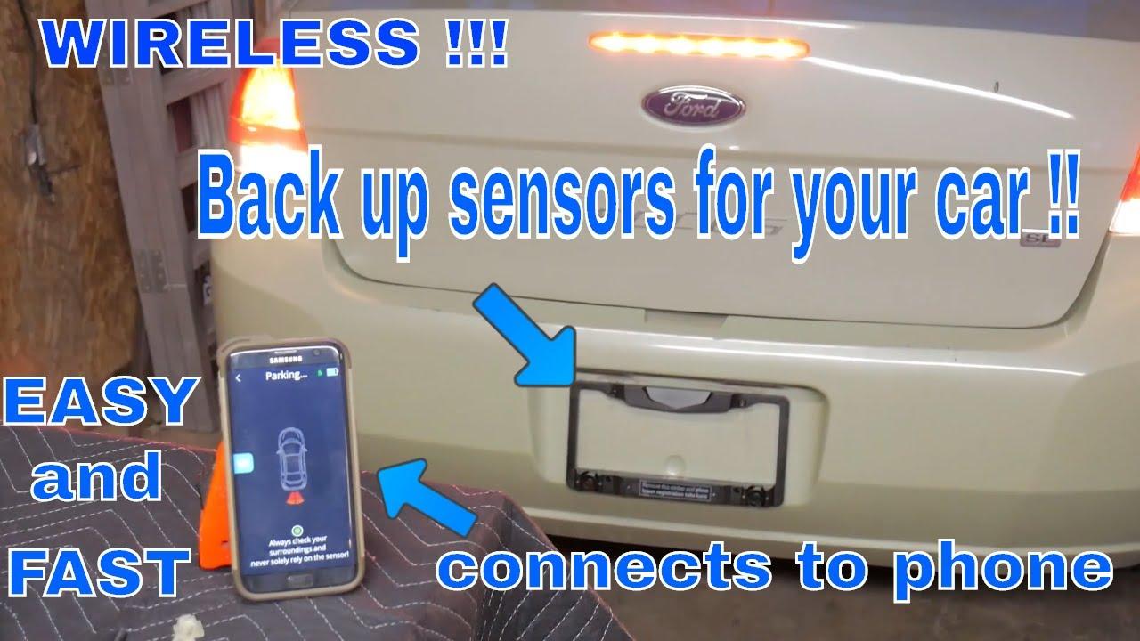 Wireless backup/parking sensor install and review! Fensens smart wireless  parking sensor