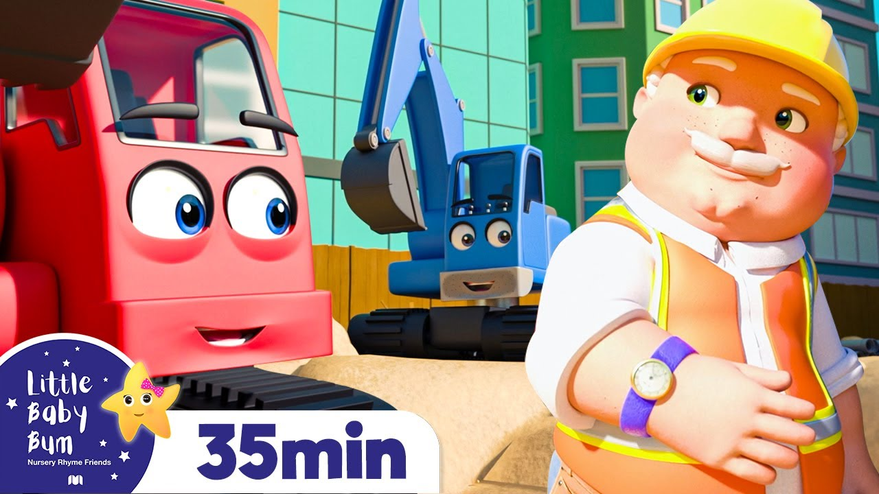 Excavator Song - Construction Songs for Kids | Construction Vehicles | Baby Songs | Little Baby Bum