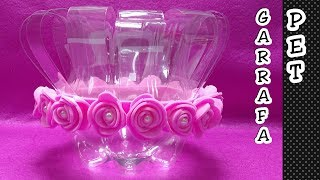 Vaso de garrafa pet – Centro de mesa, lembrancinha, suporte para doces – Reciclagem de garrafa pet