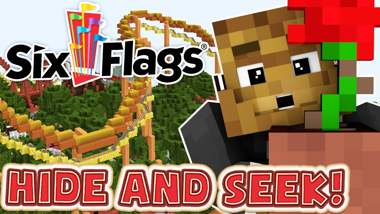 THE BEST HIDING PLACES AT A THEME PARK! Six Flags Edition ...