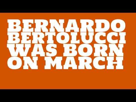 Who does Bernardo Bertolucci share a birthday with?