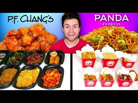 P.F. CHANG'S vs. PANDA EXPRESS - Restaurant Taste Test!