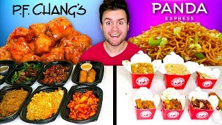 P.F. CHANG'S vs. PANDA EXPRESS - Restaurant Taste Test!