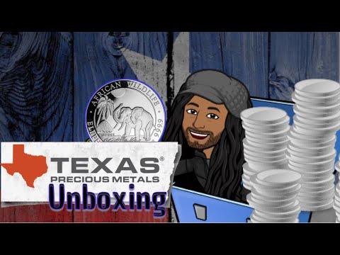 Texas precious metals silver unboxing