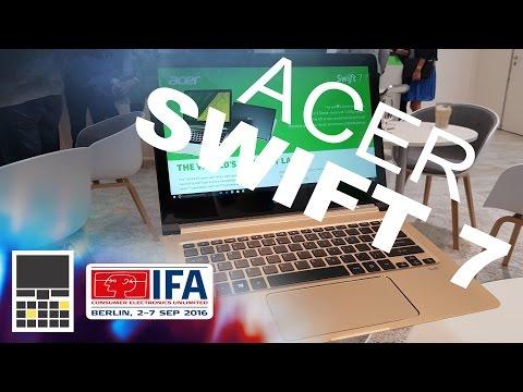 Acer Swift 7 - самый тонкий ультрабук - IFA 2016