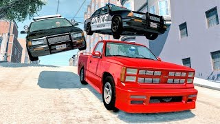 Crazy Police Chases #20 - BeamNG Drive Crashes