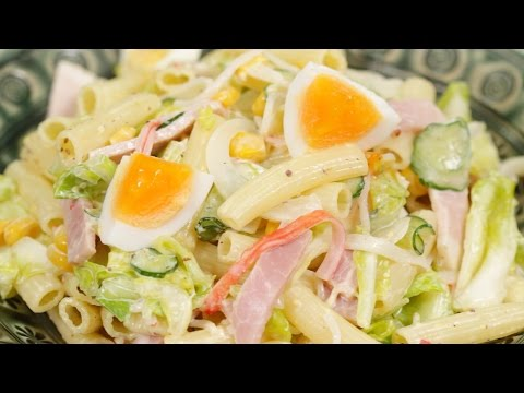 Macaroni Salad with Spring Vegetables Recipe | Cooking with Dog