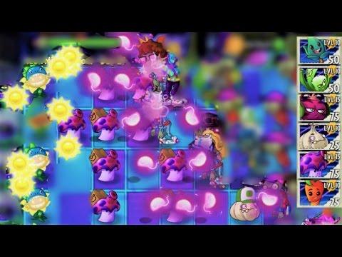 Plants vs. Zombies 2 - Neon Mixtape Tour's Max-level Plants