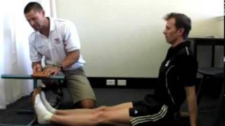 Measuring flexibility with a sit and reach test