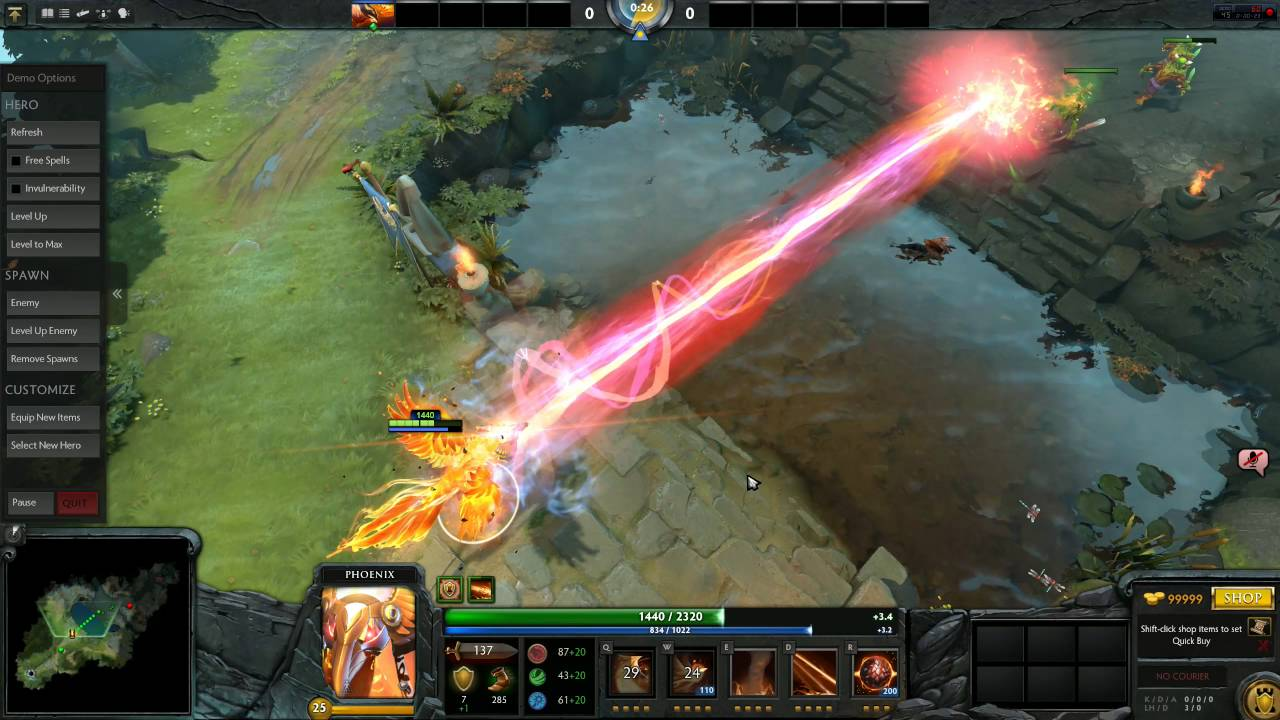 Dota 2 Immortal Item, Phoenix Solar Forge