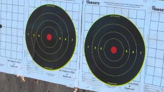 Precision rifle Ruger 10/22 at 50 and 100 yards