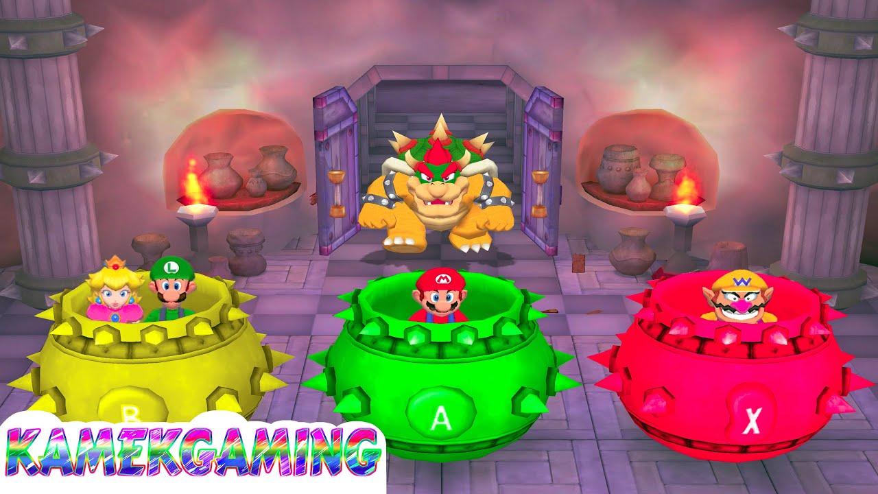 Mario Party 5 Minigames Luigi Vs Mario Vs Peach Vs Wario