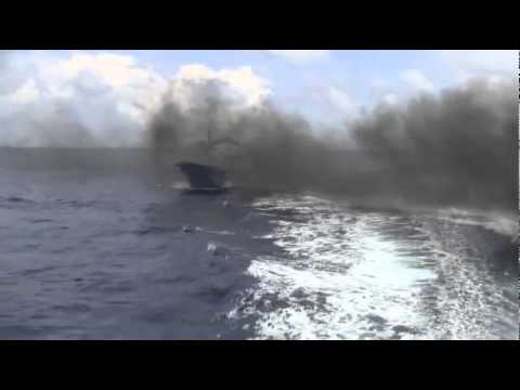 Japanese Coast Guard Smashes Chinese Fishing Boat With Translation - Video