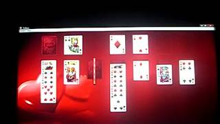 me playing solitaire