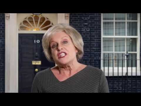 Jan Ravens totally smashes a Theresa May impression! #CPC16