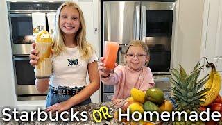Starbucks or Homemade? How To Make Refreshing Summer Drinks!/**Delicious**