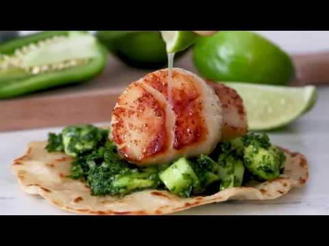 BEST Green Scallop Tacos Recipe