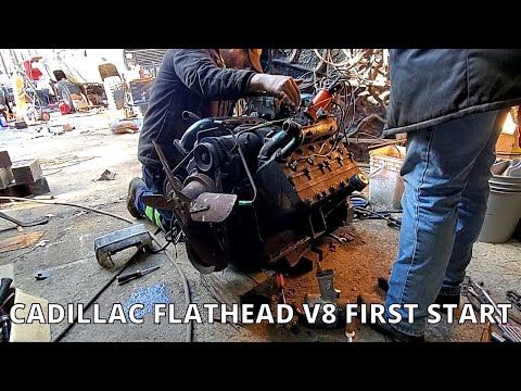 Jonathan W 1941 Cadillac Flathead V8 Engine First Start In Years - Behind The Scenes