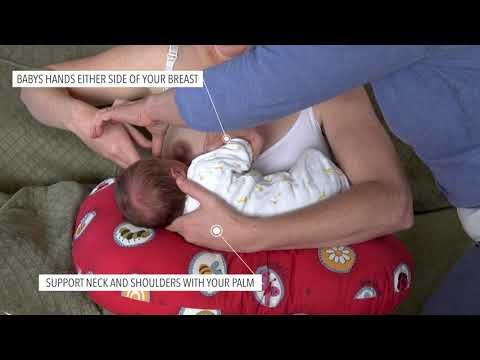 HOW TO GET A GOOD LATCH - Cross Cradle Hold - Professional Breastfeeding Videos