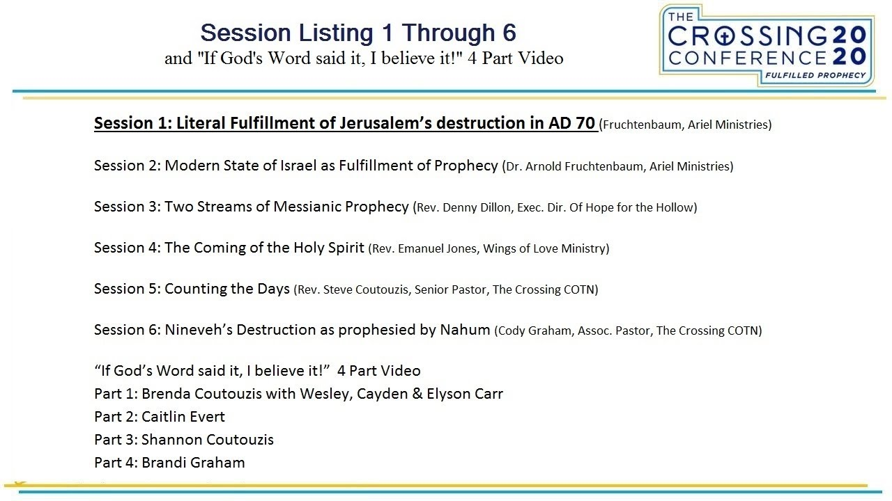 Session 1: Literal Fulfillment of Jerusalem's destruction in AD70