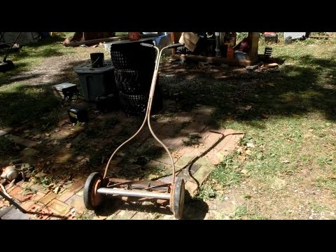 1950's Reel Mower Restoration part 1: disassembly