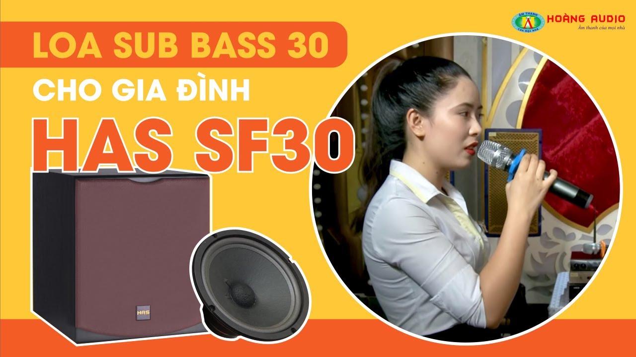 Loa siêu trầm Bass 30 – HAS SF30 cần thiết cho karaoke gia đình?