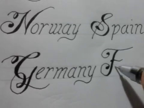 Calligraphy Writing Styles With Normal Pen 8