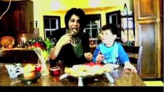 Ashpazkhana - Cooking With Nazema Momand-almond Tea Cake And Strawberry Chocolate Dip