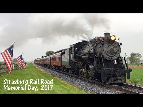 Strasburg Rail Road 90 Memorial Day 2017 Steam Train Ride Lancaster County Pennsylvania