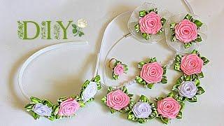 Lindas flores Kanzashi para ornamentos