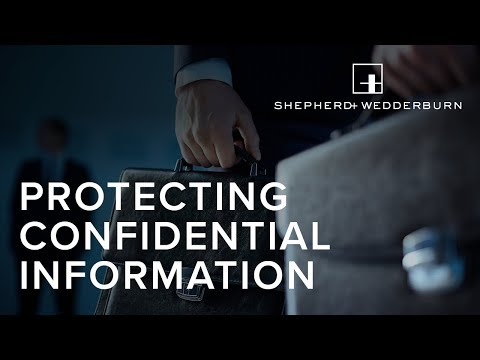 Identifying and defining your confidential information