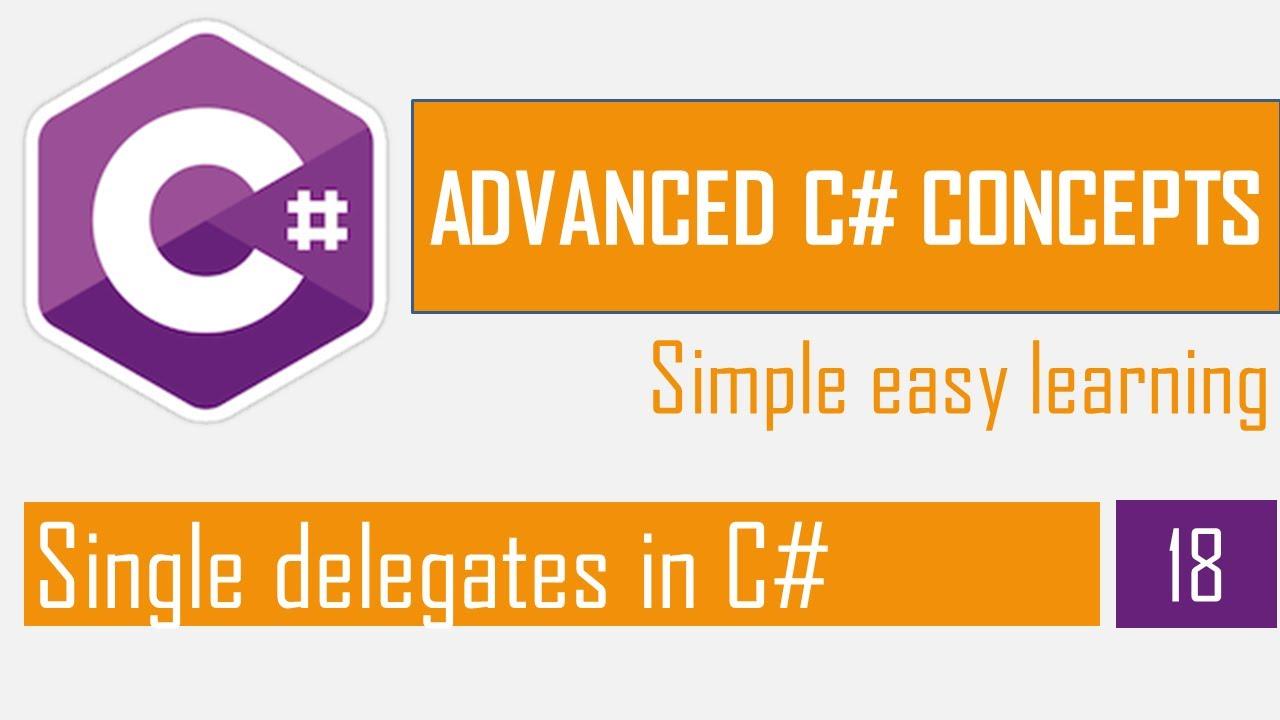 Single delegates in C#   Delegates and events   C# Bangla Tutorial   Advanced C#