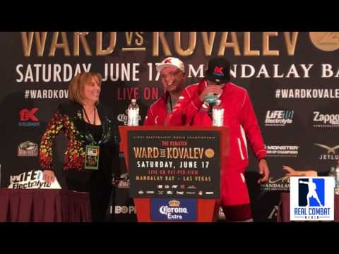 SERGEY KOVALEV MEETS WITH PRESS AFTER HIS LOSS TO WARD, KATHY DUVA ERUPTS ON WARD FANS