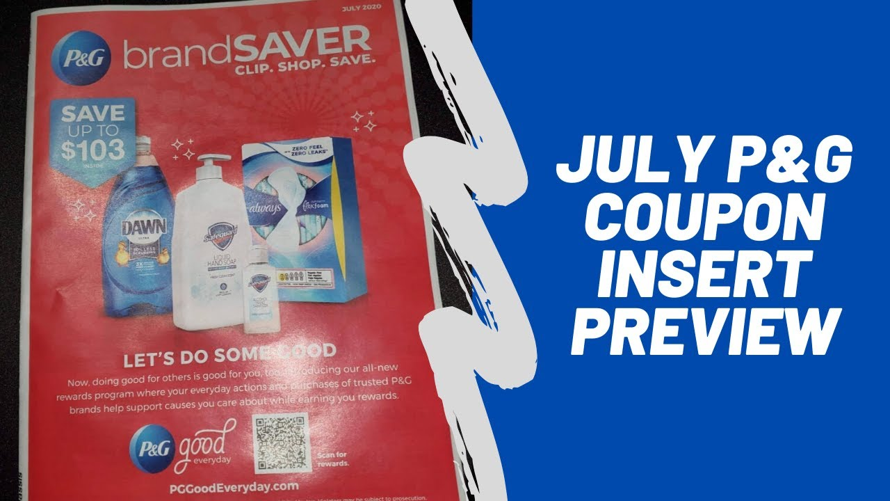 July P G Insert Preview 3 00 Tide Coupons More Youtube