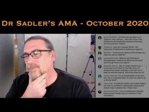 Dr Sadler's AMA (Ask Me Anything) Session - September 2020