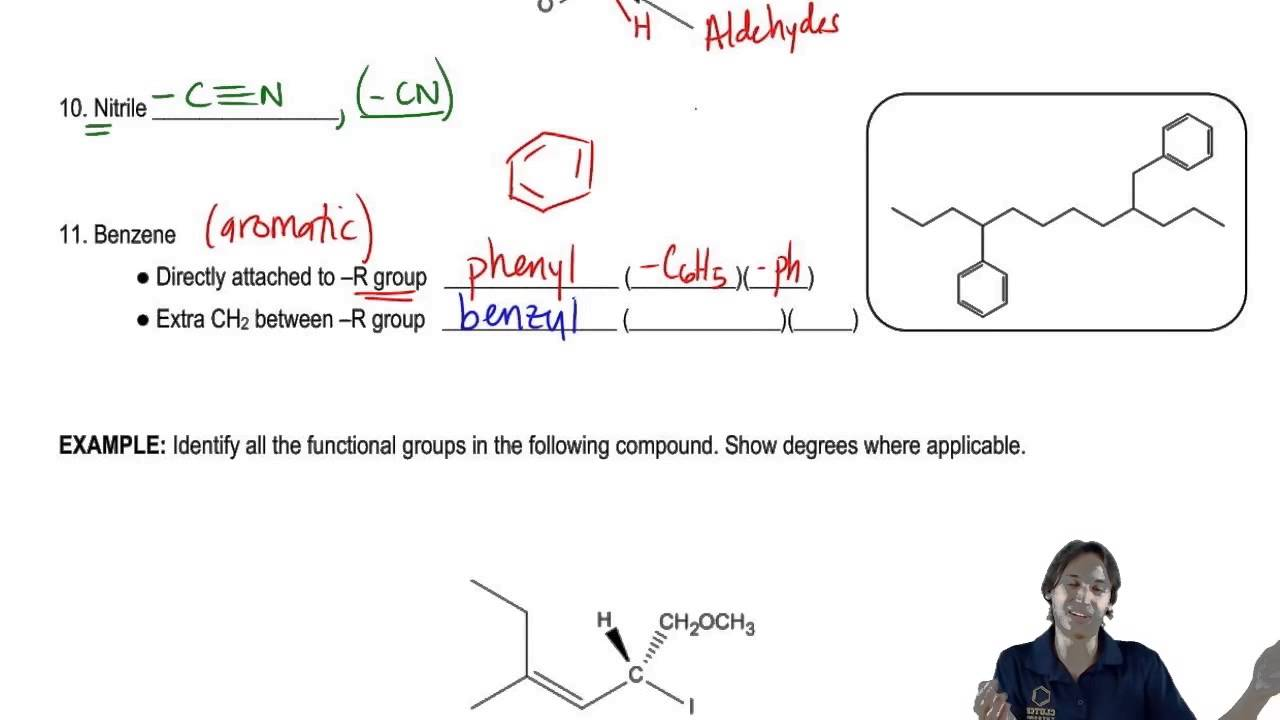 The difference between phenyl and benzyl groups