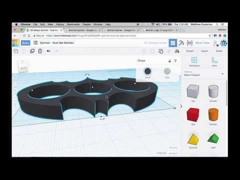 How to Make Fidget Spinner 3: Batman Symbol