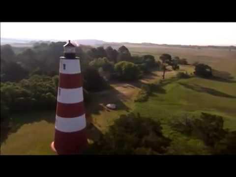 Aerials Savannah Georgia Lighthouse