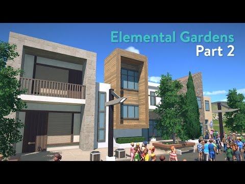 Planet Coaster - Elemental Gardens (Part 2) - Entrance Building & Mainstreet