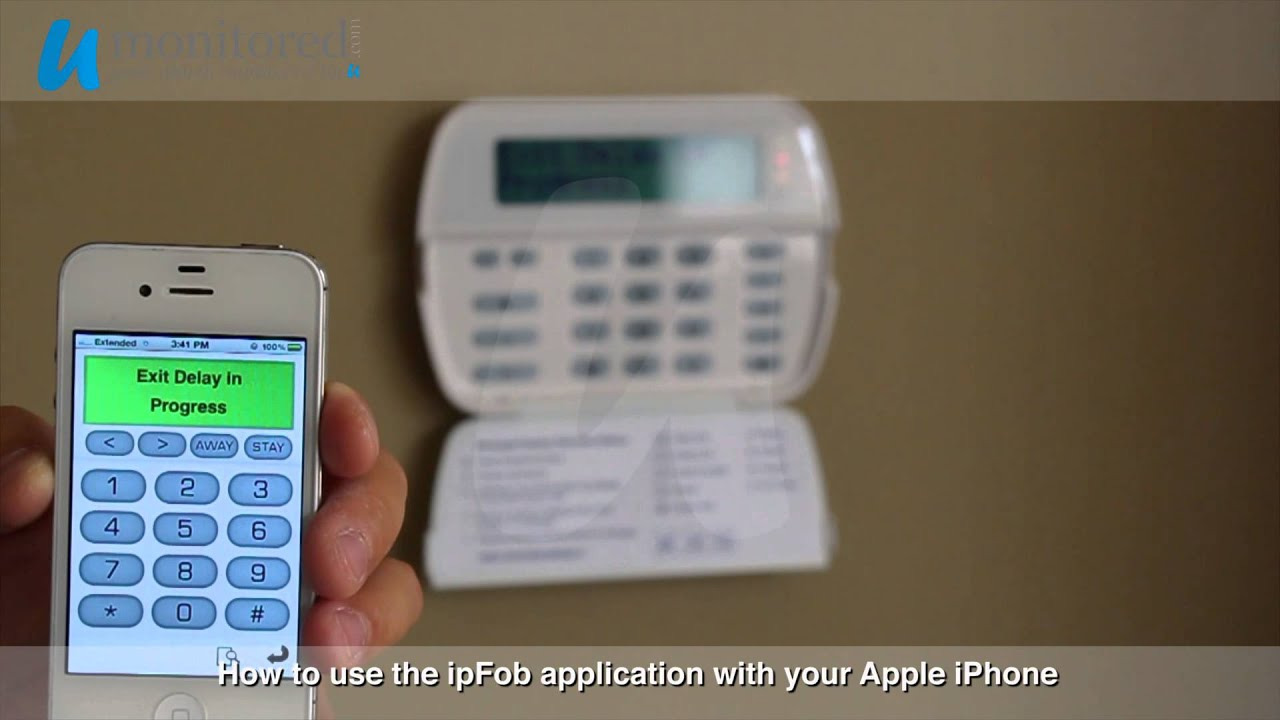 Dsc use the ipfob app on an apple device to monitor your for Dsc allarmi