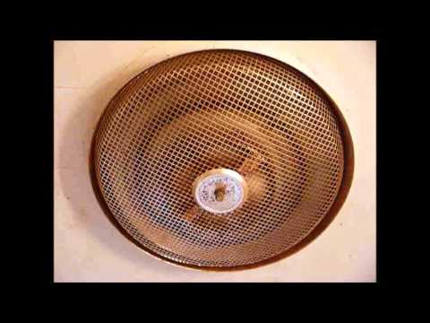 Nutone bathroom electric ceiling heater from 1963  YouTube