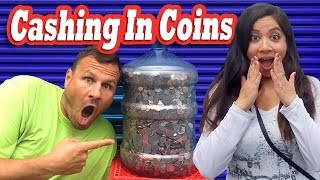 Cashing In A Water Jug of COINS | HOW MUCH DID WE GET? / I Bought An Abandoned Storage Unit