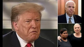 """""""He was horrible!"""" Trump lays into McCain AGAIN, daughters beg him to leave their dead father alone"""