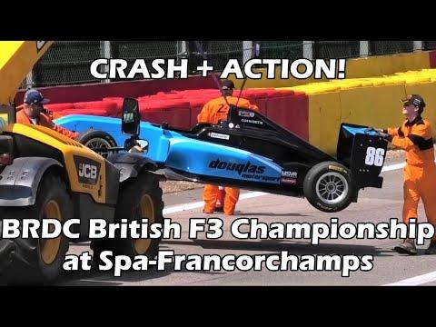 CRASH + ACTION! BRDC British F3 Championship at Spa Francorchamps