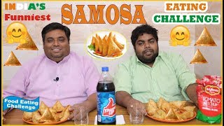 SAMOSA EATING CHALLENGE I Samosa Food Challenge / Competition I Samosa Challenge India