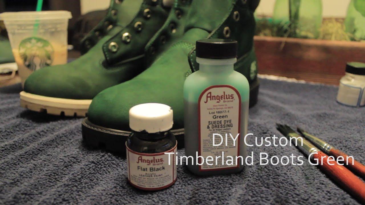 Teindre Timberland Directe Peinture Bottes Youtube Angelus