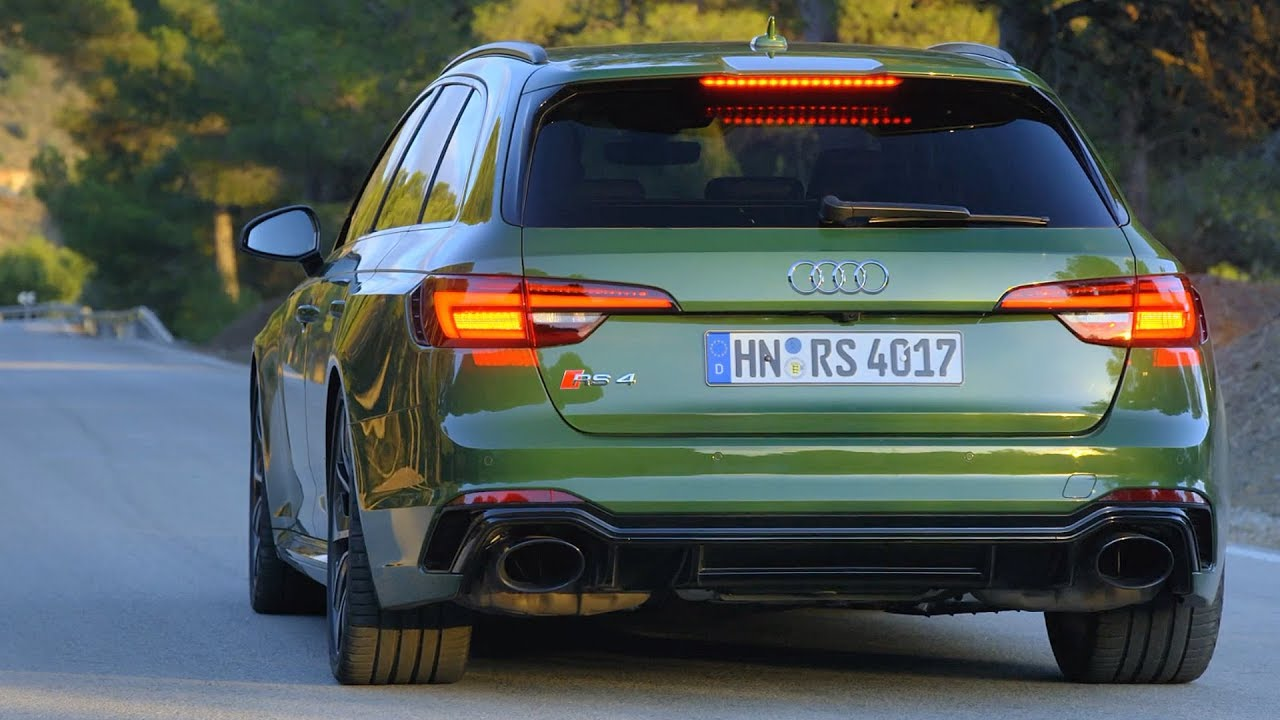 2018 Green Audi Rs 4 Avant 0 100 Kh Acceleration And 450 Hp