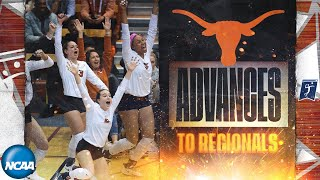 Texas v. UCSB: Second round of 2019 NCAA women's volleyball tournament