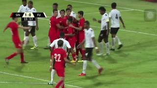 SINGAPORE VS FIJI 2-0 Football Soccer All GOALS (Singapore scored 2 goals in 2 minutes)