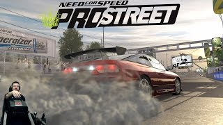 Дрэг-рейсинг на малость допиленном Nissan 240SX Need for Speed: ProStreet на руле Fanatec CSL Elite